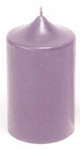 Сиреневая гадальная свеча фото