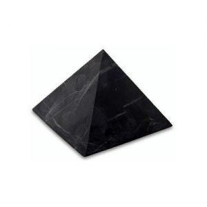 Пирамида из шунгита неполированная 15 см фото