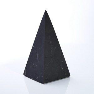 Пирамида из шунгита высокая неполированная 9 см Кватро-рус фото