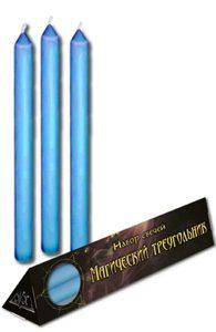 Набор голубых свечей «Магический треугольник»