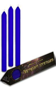 Набор синих свечей «Магический треугольник»