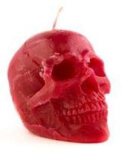 Красная магическая свеча «Череп»