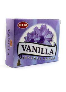 Благовония HEM Ваниль (Vanilla) 10 конусов
