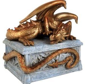 Шкатулка Золотой дракон