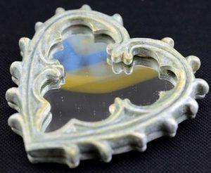 Карманное зеркальце Готическое Сердце
