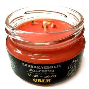 Эко-свеча Овен, 7х5 см