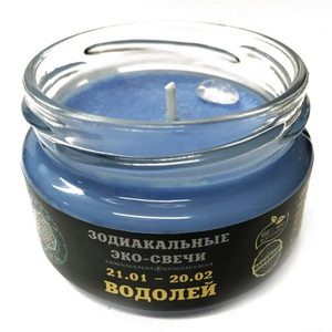 Эко-свеча Водолей, 7х5 см