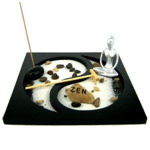 Набор Садик Дзен Инь-Янь, 23х23 см, дерево, искусственный камень