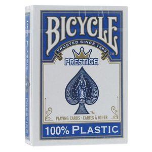 Карты Bicycle Prestige 100% пластик (синие) фото