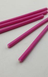 Розовые часовые свечи 5 шт