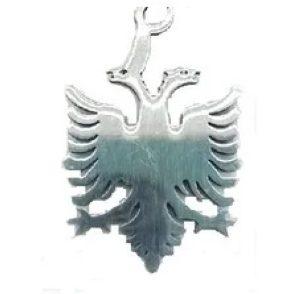 Амулет Двуглавый орел, фигура (сталь) фото