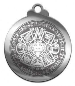 Амулет Календарь ацтеков (медсталь) фото