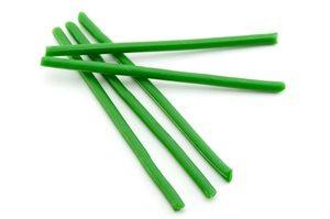 Зеленые восковые часовые свечи 5 шт