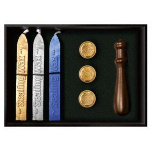 Набор из трех восковых печатей-символы : солнце, Викка, буддийский узел фото