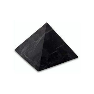 Пирамида из шунгита неполированная 10 см фото
