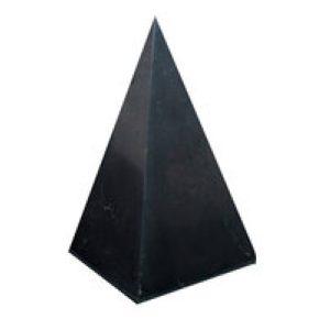 Пирамида из шунгита высокая полированная 8 см...