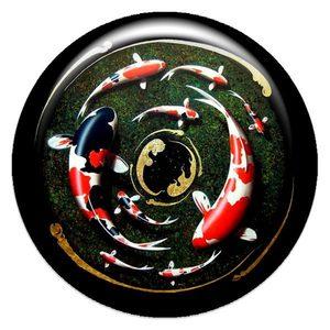 Объемный талисман-наклейка Девять карпов фото