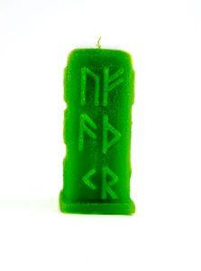 Зеленая руническая свеча