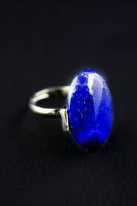 Кольцо безразмерное из камня. Лазурит