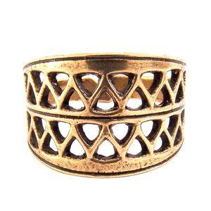 Вятичский решетчатый перстень (латунь)