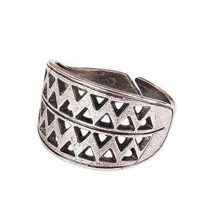 Вятичский решетчатый перстень (посеребрение) фото