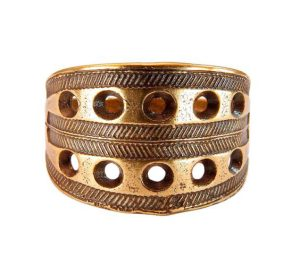 Новгородский решетчатый перстень (латунь)