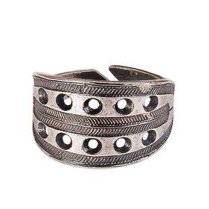 Новгородский решетчатый перстень (посеребрение)