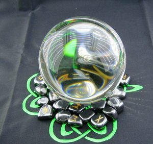 магический шар хрусталь 12 см