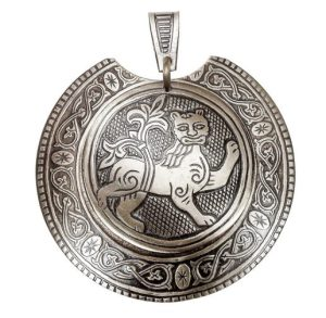 Колт накладной «Могучий лев» (мельхиор) фото