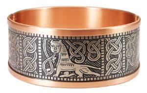 Киевский браслет малый комбинированный (мельхиор) фото